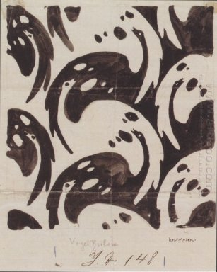 Fabric Design With Birds For Backhausen 1899