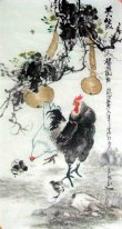 Chicken-Gourd - Chinese Painting
