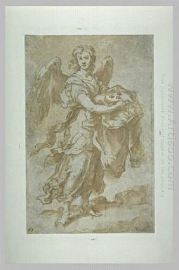 Angel Holding The Tunic And Dice 1660