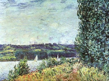 banks of the seine wind blowing 1894
