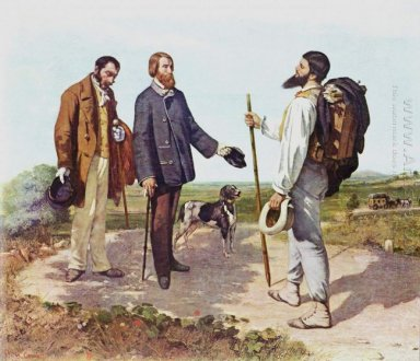 The Meeting Bonjour Monsieur Courbet 1854