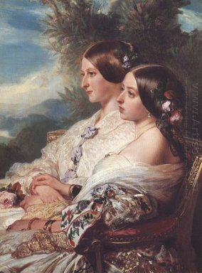 The Cousins Queen Victoria And Victoire Duchesse De Nemours 1852