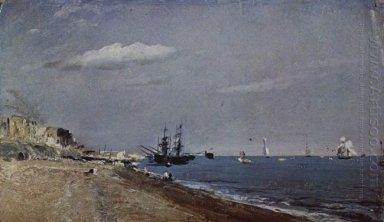 brighton beach with colliers 1824