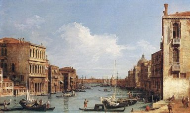 the grand canal from campo san vio towards the bacino
