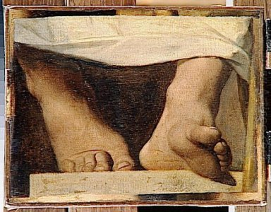 Study For The Apotheosis Of Homer Homer S Feet 1827