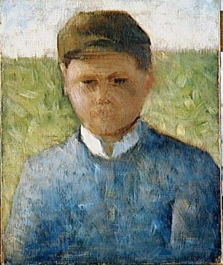 Young Peasant In Blue 1882