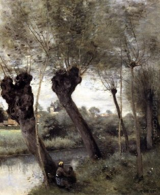 Saint Nicholas Les Arras Willows On The Banks Of The Scarpe 1872