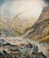 A Mountain Road Flood Time 1868