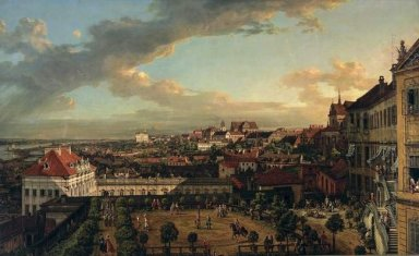 View Of Warsaw From The Terrace Of The Royal Castle 1773