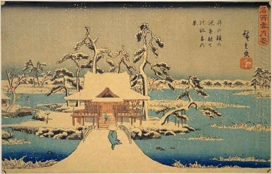 Benzaiten Shrine At Inokashira In Snow