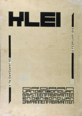 Cover Design For Magazine Klei 1920