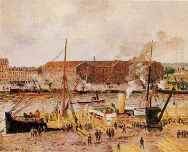 unloading wood at rouen 1896
