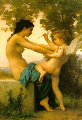 Young Girl Defending Herself against Eros 1880