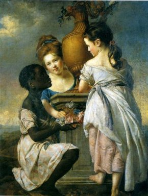 A Conversation Between Girls Or Two Girls With Their Black Serva