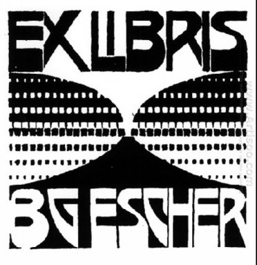 Bookplate B G Escher Beer