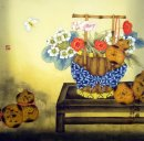 Flower-Bottle gourd - Chinese Painting