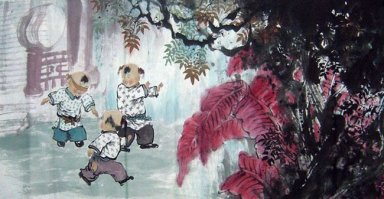 Children - Chinese painting