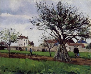 apple trees at pontoise 1868