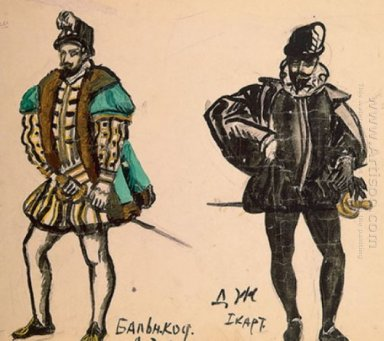 Costume Design For The Opera Don Giovanni By Wolfgang Amadeus Mo