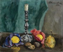 Still Life With A Candlestick And A Pear 1940