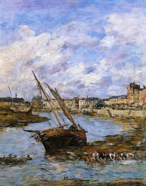 Trouville The Inner Port Low Tide 1881