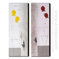 Hand-painted Oil Painting Abstract - Set of 2