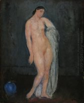Nude with Blue Vase