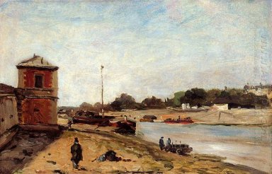the seine opposite the wharf de passy 1875