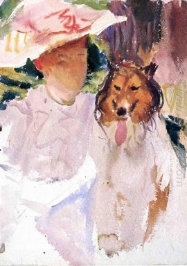 Woman With Collie