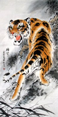 Tiger-Treasures - Chinese Painting