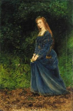 Portrait Of The Artist S Wife Theodosia As Ophelia 1863