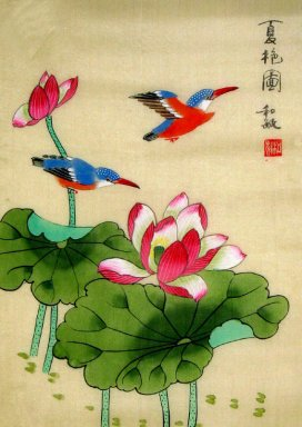 Lotus&Birds - Chinese Painting
