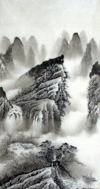 Lake in the evening - Chinese Painting