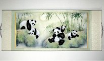 Pandas - Mounted - Chinese Painting