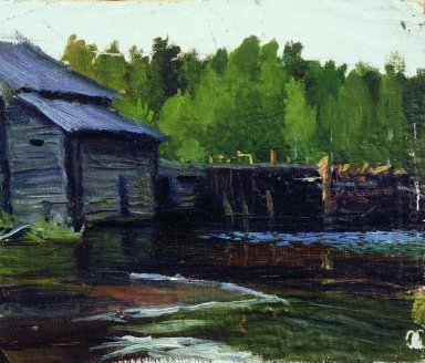 Pavlov S Mill On The River Yahrust 1905