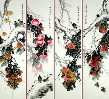 Orchard-FourInOnee - Chinese Painting