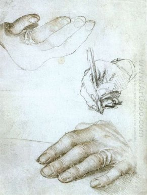 Studies Of The Hands Of Erasmus Of Rotterdam