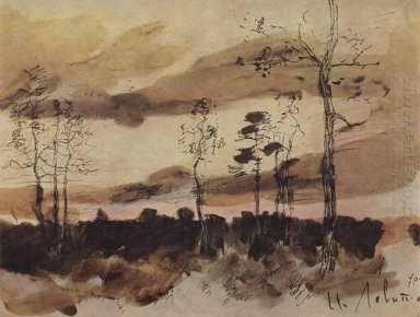 Sunset Forest Edge 1900