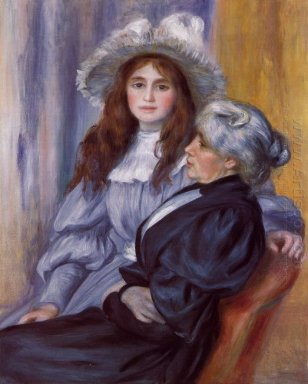 Berthe Morisot And Her Daughter Julie Manet 1894