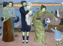 Parisians at the Seaside, Evening