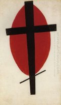 Black Cross On A Red Oval 1927