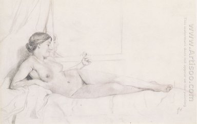 Reclining Nude On A Couch