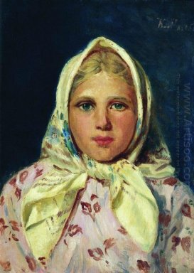 Girl In A Kerchief Portrait Of The Girl