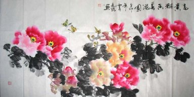 Penoy&Butterfly - Chinese Painting