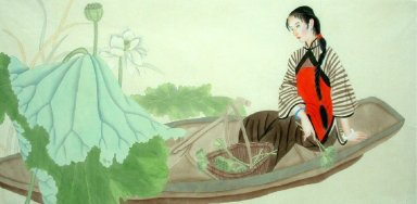 Beautiful Lady-Chinese Painting7