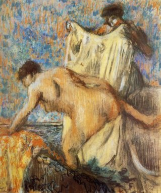 woman leaving her bath 1898