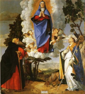 Asolo Altarpiece Main Panel Scene Of The Assumption With St Anth