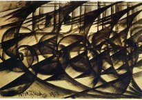 Speeding Car Study Abstract Speed 1913
