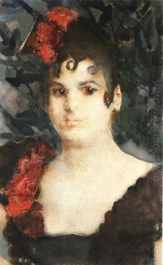 Portrait Of A T Lyubatovich In Role Of Carmen 1895