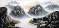 Mountain and water, Tree - Chinese Painting